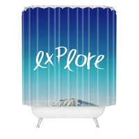 Leah Flores Explore Shower Curtain