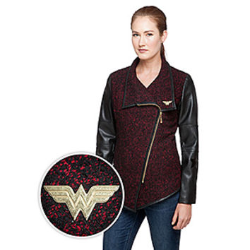 Wonder Woman Asymmetrical Moto-Style Jacket