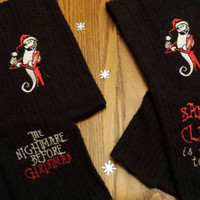 Nightmare Before Christmas Jack SKELLiNGToN SaNDy CLaWs Towel Set Bath or KiTcHeN Embroidered BOUTIQUE Designs by Sugarbear FuN GiFT Idea!