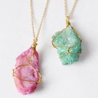 Shimmery Crystal Necklace
