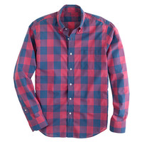 Lightweight shirt in oversize gingham - washed shirts - Men's shirts - J.Crew