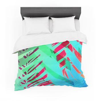 "Alison Coxon ""Cool Tropical"" Blue Green Featherweight Duvet Cover"