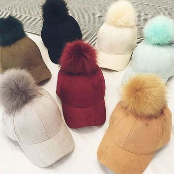 ESBG8W winter hat suede Hat Lady winter and autumn hip hop  ball Nagymaros peaked cap baseball cap  pattern for women and men c006