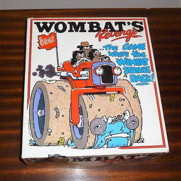 "Vintage 1980's Rare Board Game - ""Wombat's Revenge"" - The Game Where The Wombat Strikes Back! / Retro Board Game / Wombat Vs Drivers"