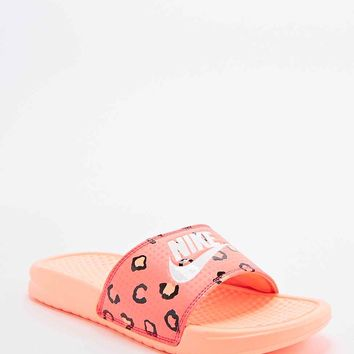 Nike Benassi JD Printed Sliders in Orange - Urban Outfitters