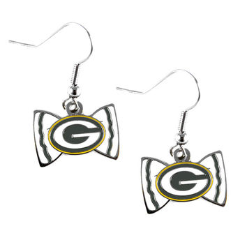 Green Bay Packers Women's Bow Tie Earrings