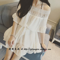 Great Fairy cotton lace stitching dress
