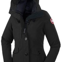 Canada goose Winter fashion to keep warm hooded down jacket/BLACK