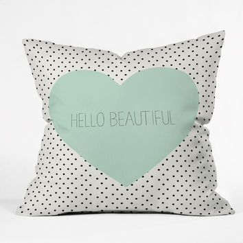 Allyson Johnson Hello Beautiful Heart Throw Pillow