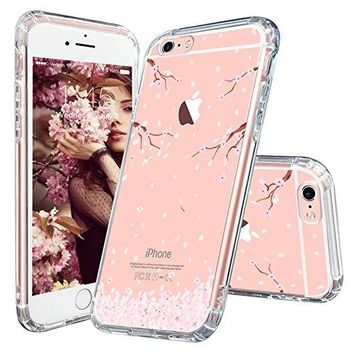 iPhone 6 Case, iPhone 6s Case, MOSNOVO Cherry Blossom Floral Printed Flower Clear Design Transparent Plastic Hard Slim Case with Soft TPU Bumper Protective Case Cover for Apple iPhone 6 6s (4.7 Inch)