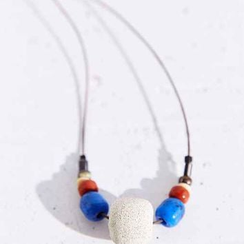 Kate Miss X Urban Renewal Blue Beaded Concrete Necklace