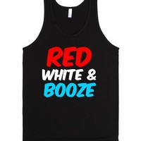 Red, White, and Booze-Unisex Black Tank