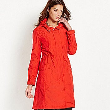Eileen Fisher Petite Weather-Resistant Hooded Anorak - Red Poppy