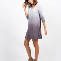 Ombre Jersey Dress