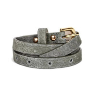 Faux Suede Belt in Olive