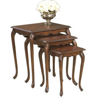 Butler Home Decor Furniture Nest of Tables Finish Type Light Plantation Cherry 2306024