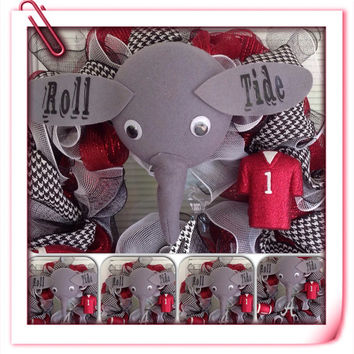 Alabama Football Wreath, Alabama Door Hanger, football decoration