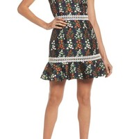 Keepsake the Label Faithful Floral Lace-Up Shoulder Dress | Nordstrom
