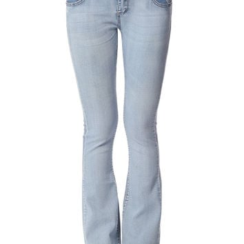 Q2 Skinny Flare Jeans With Low-Rise Waistband