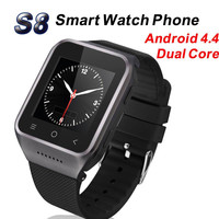 ZGPAX S8 Smart Watch Smartwatch 3G WCDMA Mobile Phone Android 4.4 MTK6572 Wrist Watches Bluetooth 4.0 Wifi 5.0MP Camera GPS