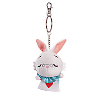White Rabbit Plush Keychain