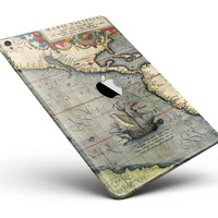 "The Vintage Coast Map Full Body Skin for the iPad Pro (12.9"" or 9.7"" available)"