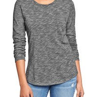Women's Relaxed Slub-Knit Pocket Tees