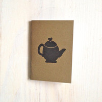 Small Notebook: Valentines, Tea Pot, Sweet, Tea, Brown, Kids, Cute, Valentine's Day, For Her, For Him, Small Notebook, Unique, KR101