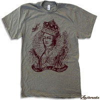Mens - God Save the QUEEN- T-Shirt american apparel S M L XL (17 Colors Available)