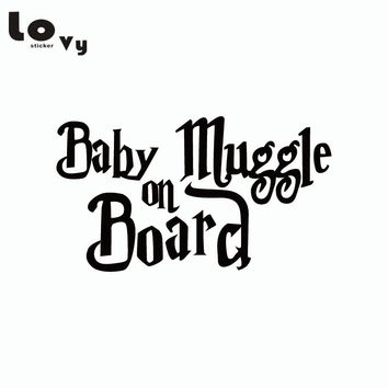 Harry Potter Car Sticker Baby Muggle On Board Funny Warning Sign Vinyl Car Decal