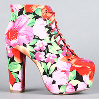 The Lita Shoe in Flowers Fabric