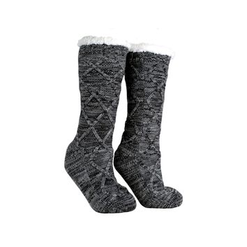 """Women's Non-Skid Warm Soft and Fuzzy Shea Butter and Rose Oil Infused """"Book Lovers"""" Slipper Socks"""