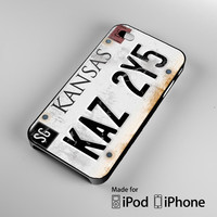 Kansas KAZ 2Y5 Supernatural License Plate A0663 iPhone 4S 5S 5C 6 6Plus, iPod 4 5, LG G2 G3, Sony Z2 Case