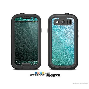 The Grungy Teal Texture Skin For The Samsung Galaxy S3 LifeProof Case