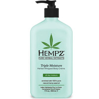 Hempz Triple Moisturizer Herbal Whipped Body Creme, 17oz