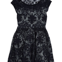 Sally Miller Girls 7-16 Lace Fit and Flare Dress