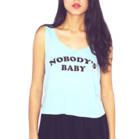 Nobody's Baby Crop Tank Top