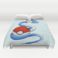 Dragonair Pokemon Duvet Cover by AlixInsanity