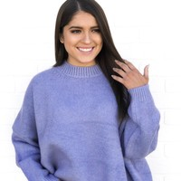 Ice Blue Oversized Sweater