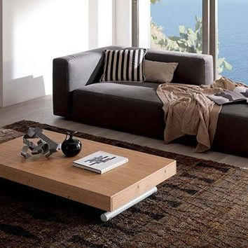 T123 Newood Convertible Coffee Table to Dining Table by Ozzio