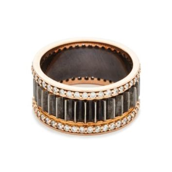 Clive Thin Diamond Fluted Band Ring