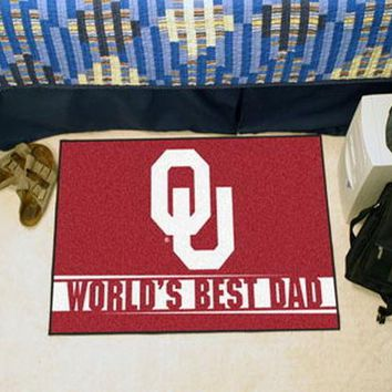 FANMATS University of Oklahoma Sooners World's Best Dad Starter Mat Rug