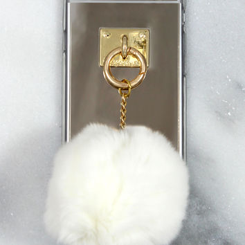 White Fuzzball iPhone Case