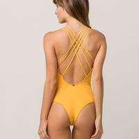 O'NEILL Salt Water Yellow One Piece Swimsuit