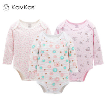 Kavkas Baby Girl Clothing 3pcs/Set Long Sleeve Winter Next Roupa Infantile Baby-Reborn Winter Romper Newborn Baby Girl Jumpsuits