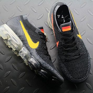 Sale Nike Air VaporMax Vapor Max 2018 Flyknit Men Germany Flag Sport Running Shoes 849558-017