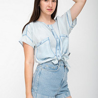 American Apparel - California Select Original Silk Cropped Tie Top