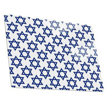 Stars of David Jewish Metal Panel Wall Art Landscape - Choose Size by TooLoud