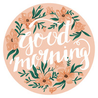 Emma Trithart's Good Morning Circle Decal