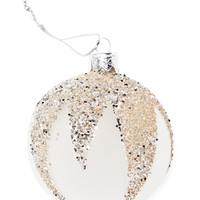 Gilt Home Collection Sequined Ornaments (Set of 4) - Silver